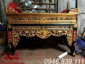 án gian thờ gỗ mít ms03
