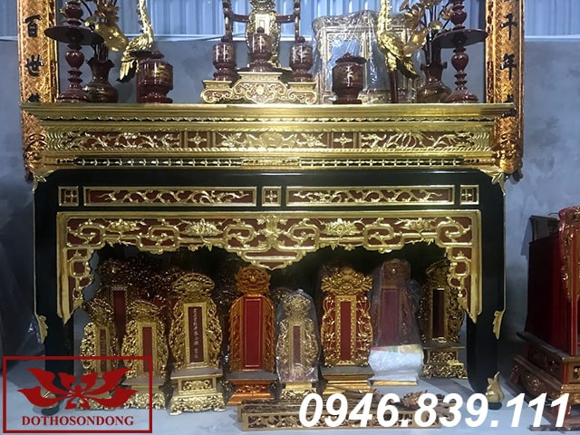 án gian thờ gỗ mít ms04