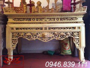 án gian thờ gỗ mít để mộc ms02