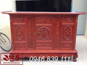 tủ thờ gỗ mít sơn PU ms 04