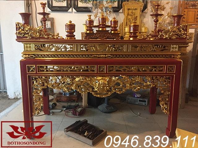 án gian thờ gỗ mít sơn son thếp vàng ms10