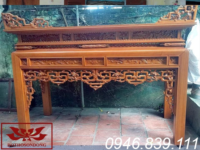 bàn thờ án gian gỗ mít ms19