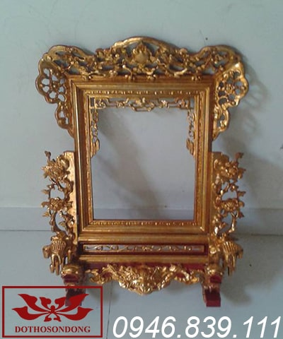 khung ảnh thờ sơn son thếp vàng ms08