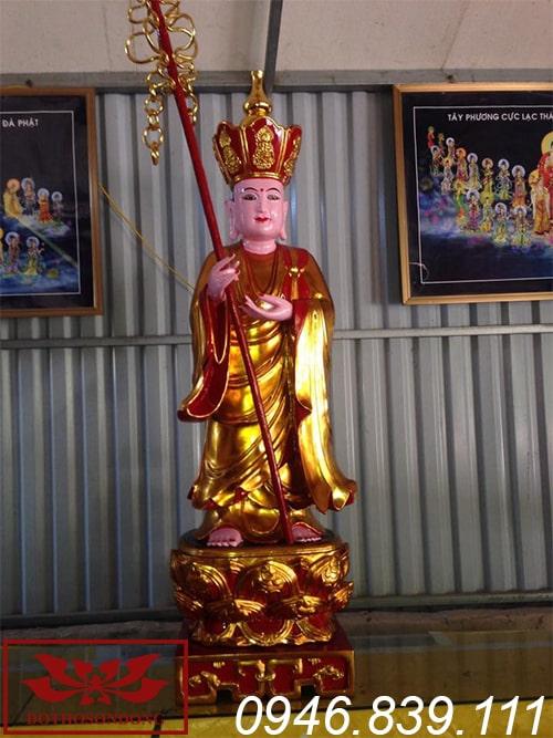 tượng địa tạng vương bồ tát thế đứng ms09
