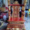 Ngai thờ gia tiên gỗ mít sơn son thếp vàng ms01
