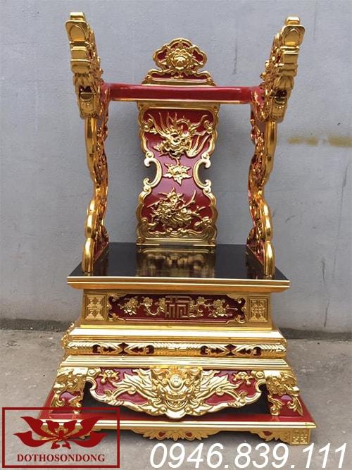 Ỷ thờ gia tiên gỗ mít sơn son thếp vàng ms01