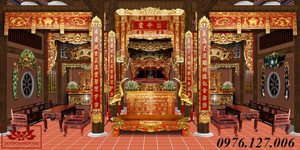mẫu thiết kế nội thất nhà thờ họ đẹp 01