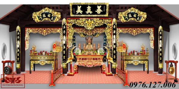 mẫu thiết kế nội thất nhà thờ họ đẹp 02