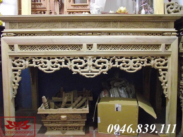 bàn thờ gỗ dổi 04