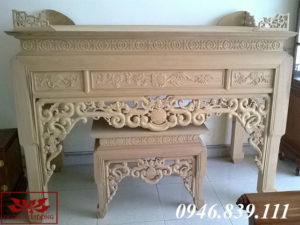 bàn thờ gỗ dổi ms 05