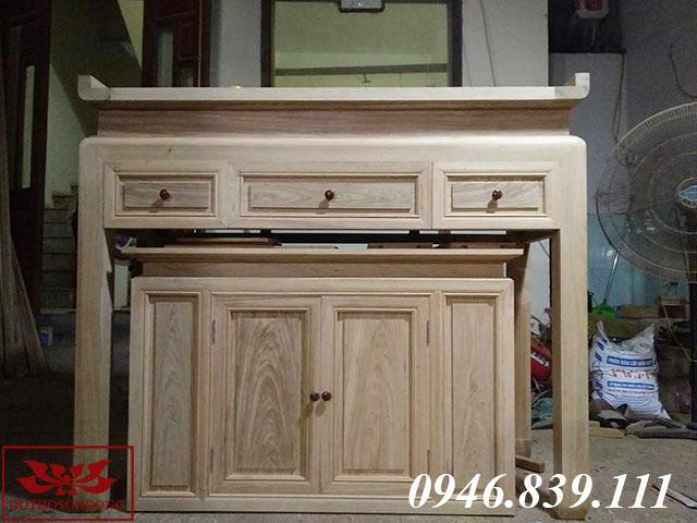 bàn thờ gỗ dổi ms 08