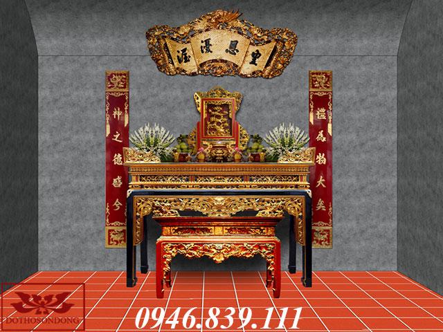 mẫu thiết kế phòng thờ gia đình 03