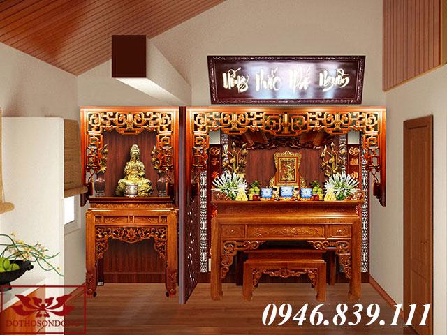 mẫu thiết kế phòng thờ gia đình 06
