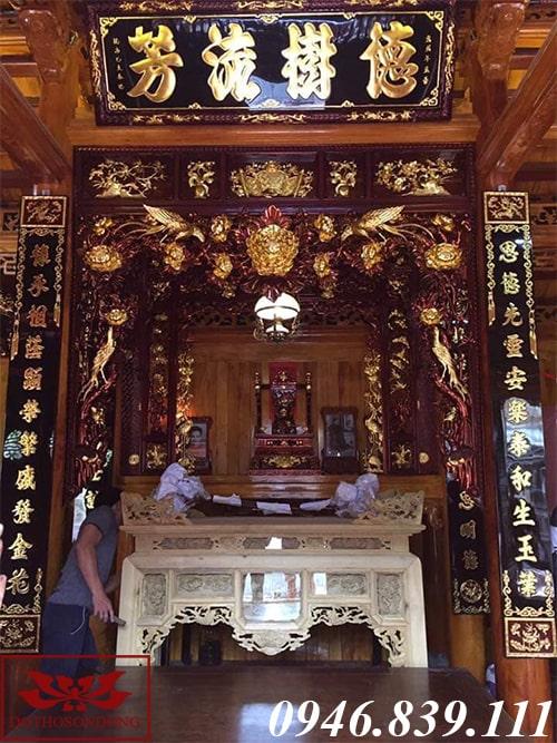 phòng thờ sơn giả cổ